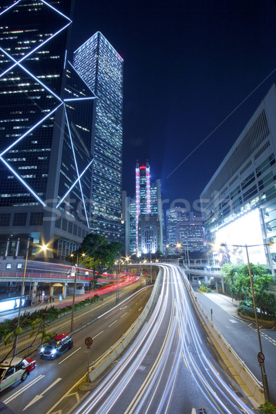 Night City światłach niebo streszczenie świetle ulicy Zdjęcia stock © kawing921