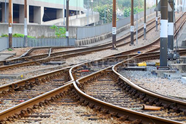 Kolej żelazna drogowego pociągu list przemysłowych przyszłości Zdjęcia stock © kawing921