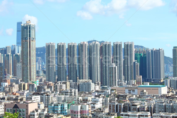 Hong Kong with crowded buildings  Stock photo © kawing921