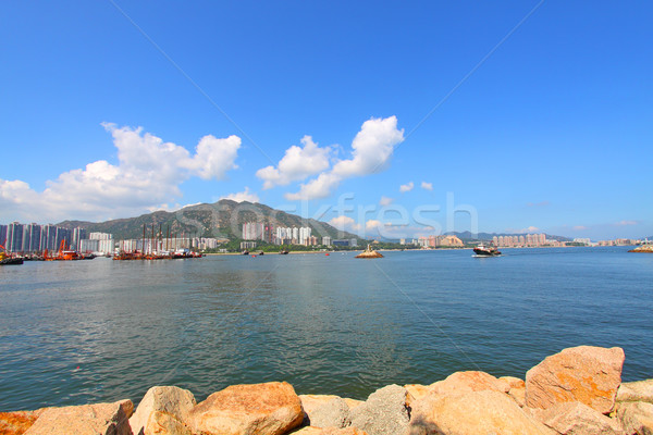 Paisagem Hong Kong dia muitos residencial Foto stock © kawing921