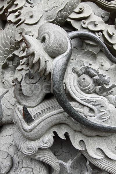 Draak China textuur reizen zwarte architectuur Stockfoto © kawing921