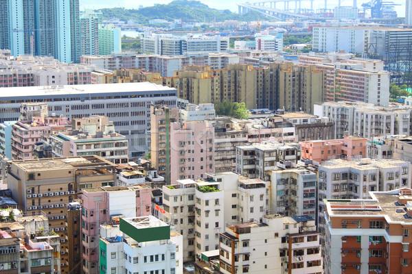 Hong Kong downtown at day time Stock photo © kawing921
