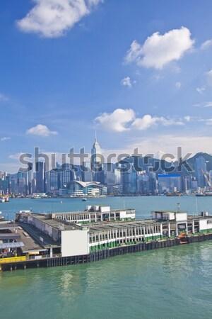 Hongkong panoramę port działalności biuro krajobraz Zdjęcia stock © kawing921