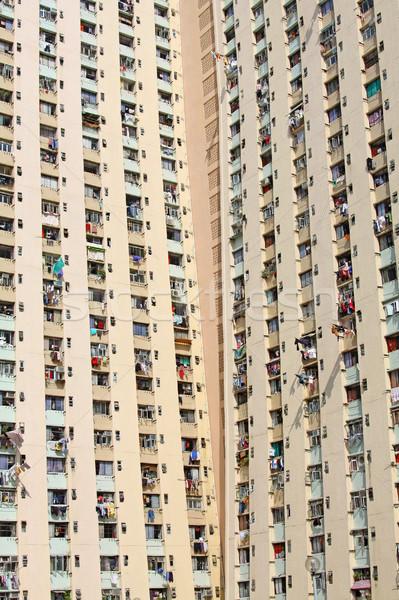Hong Kong public housing estate Stock photo © kawing921