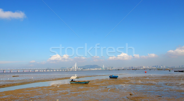 Hong Kong paisagem praia nuvens natureza Foto stock © kawing921