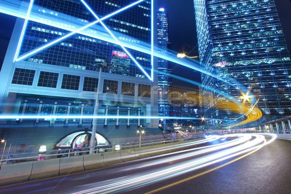 Tráfego centro da cidade cidade pérola Hong Kong negócio Foto stock © kawing921