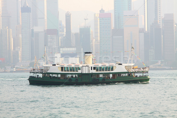 Star pont Hong Kong dag hemel water Stockfoto © kawing921