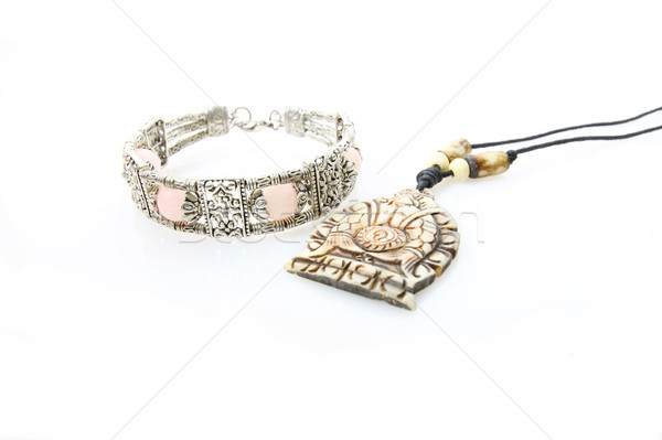 Bracelet collier isolé blanche femmes mode Photo stock © kawing921