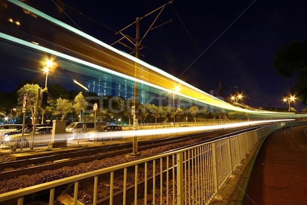 光 レール 1泊 建物 抽象的な 通り ストックフォト © kawing921