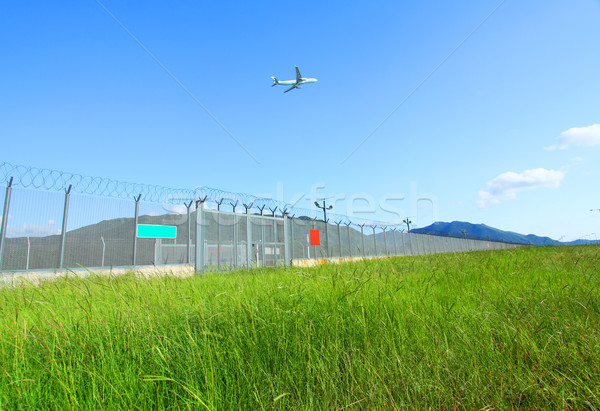 Avión volar verde sol naturaleza luz Foto stock © kawing921