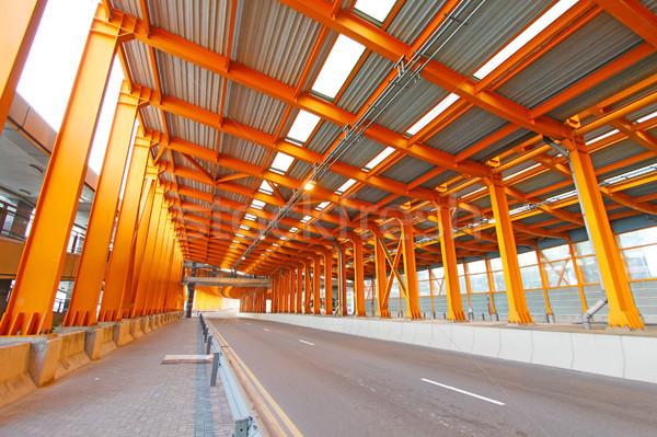 Narancs alagút nappal város utca háttér Stock fotó © kawing921