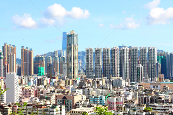 Hong Kong centrum dag tijd home voetbal Stockfoto © kawing921