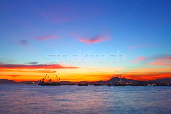Summer dawn landscape in Hong Kong Stock photo © kawing921