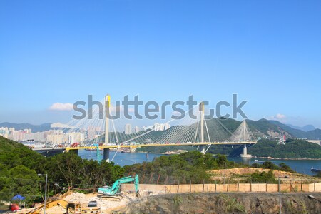 Ting Kau Bridge at day time Stock photo © kawing921