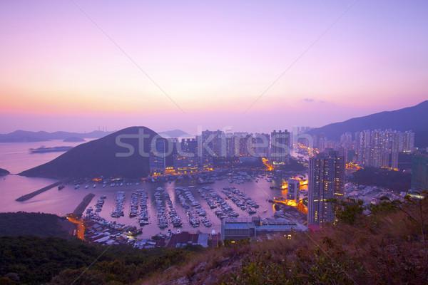 Hong Kong sunset at hilltop  Stock photo © kawing921