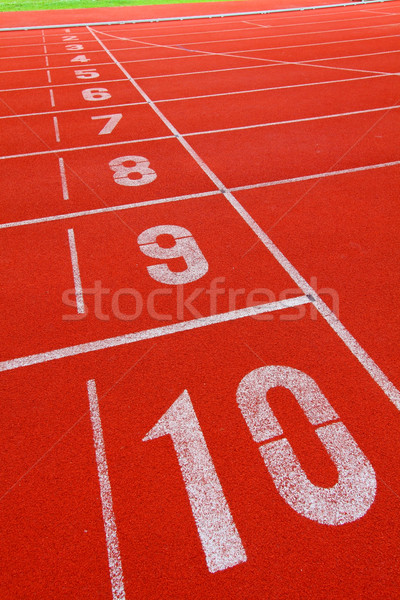 Running track with number 1-10 Stock photo © kawing921
