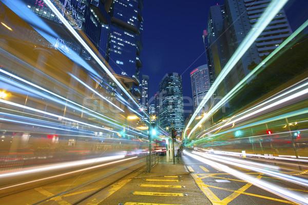 Ocupado tráfego noite da cidade pérola Hong Kong abstrato Foto stock © kawing921