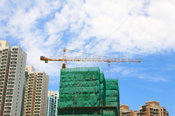 Bouwplaats stad bouw industrie staal beton Stockfoto © kawing921