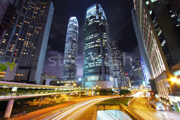 Hong Kong at night Stock photo © kawing921