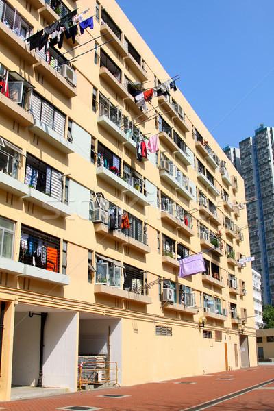 Hong Kong apartamento blocos céu paisagem casa Foto stock © kawing921