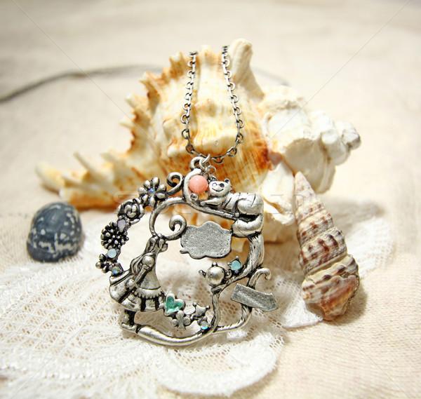 Ketting shell meisje vrouwen mode metaal Stockfoto © kawing921