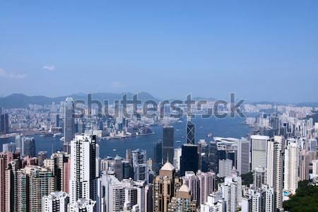 Típico cena Hong Kong cidade céu escritório Foto stock © kawing921