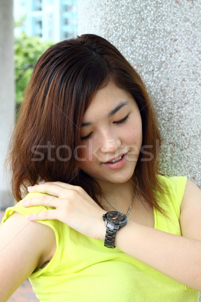 Asian woman smiling outdoor Stock photo © kawing921