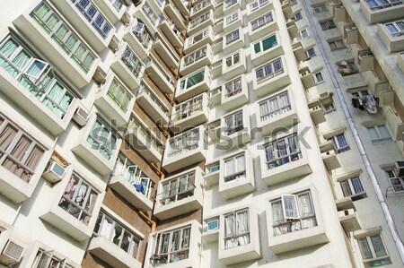 Hongkong lakásügy birtok otthon háttér városi Stock fotó © kawing921