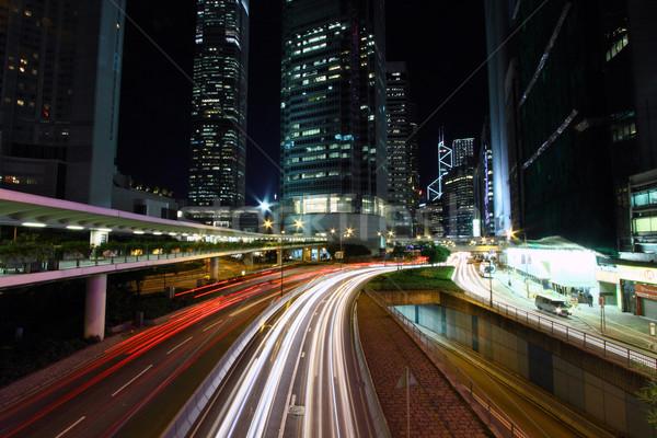 Traffic in Hong Kong at night Stock photo © kawing921