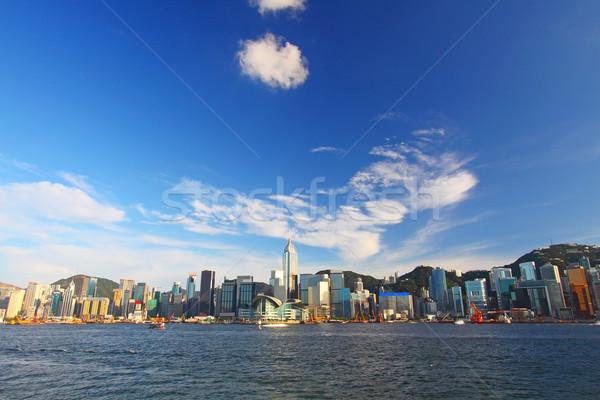 Hong Kong haven typisch gebouw stad Stockfoto © kawing921