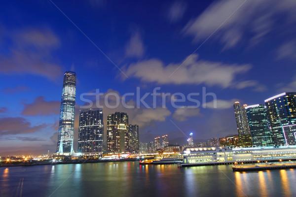 Hong Kong skyline at dusk Stock photo © kawing921