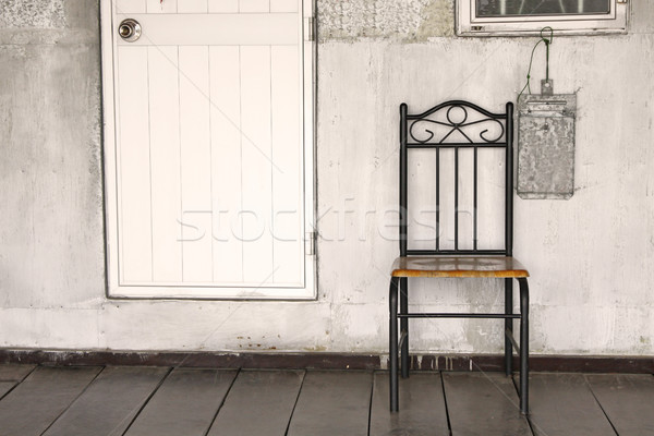 Lonely chair background Stock photo © kawing921