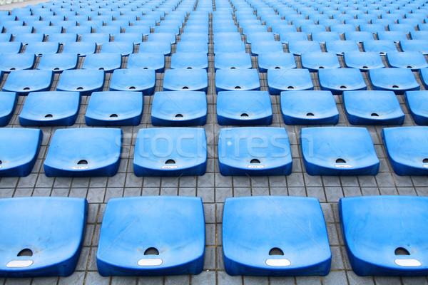 Stadion zon sport veld Blauw baseball Stockfoto © kawing921