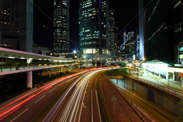Verkeer Hong Kong nacht abstract licht brug Stockfoto © kawing921
