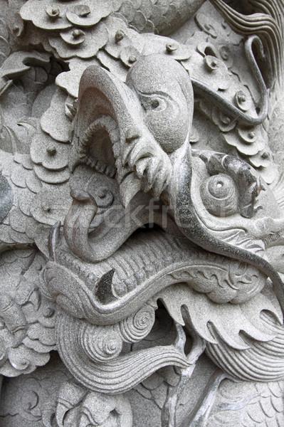 Dragon Cina texture viaggio nero architettura Foto d'archivio © kawing921