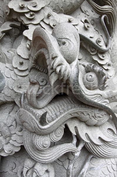 Dragon Chine texture Voyage noir architecture Photo stock © kawing921