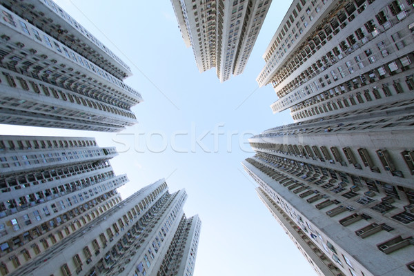 Hong Kong apartamento blocos casa fundo noite Foto stock © kawing921
