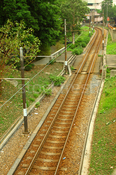 Luz rail transporte Hong Kong carretera tren Foto stock © kawing921