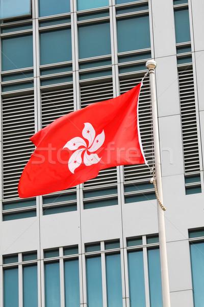 Hong Kong bandeira textura mapa viajar estrela Foto stock © kawing921