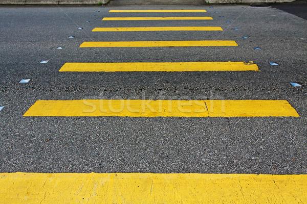 Zebra stad Rood steen zwarte verkeer Stockfoto © kawing921