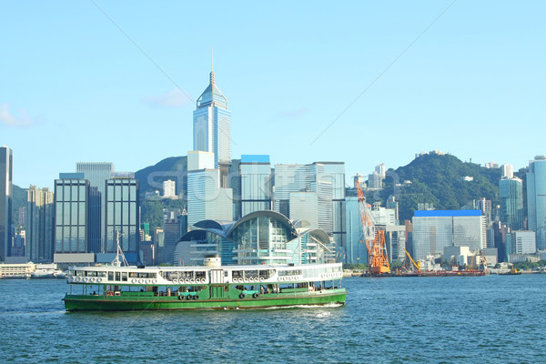 Hong Kong harbour and star ferry Stock photo © kawing921