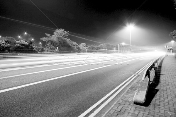 Traffic in modern city in black and white tone Stock photo © kawing921
