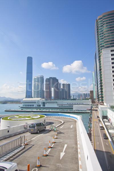 Hong Kong edifícios de escritórios negócio escritório paisagem azul Foto stock © kawing921