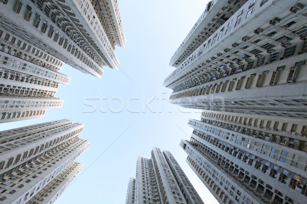 Hong Kong crowded apartment blocks Stock photo © kawing921