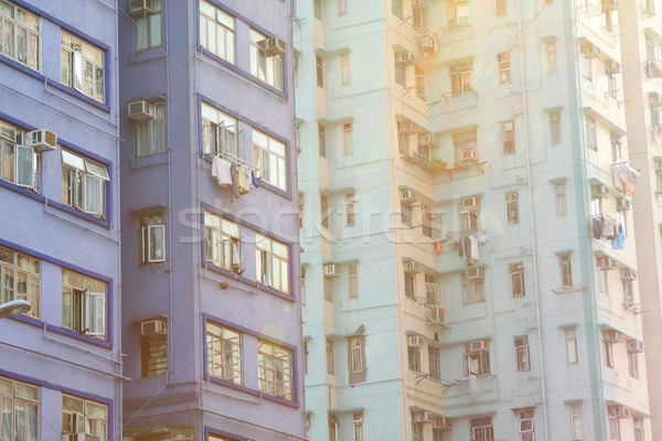 Packed Hong Kong public housing with sunlight Stock photo © kawing921
