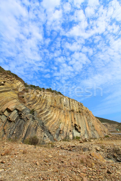 Hong Kong Geographical Park, the force of nature, folding and na Stock photo © kawing921
