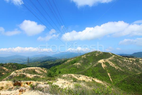 Berg vallei Hong Kong voorjaar gras bos Stockfoto © kawing921