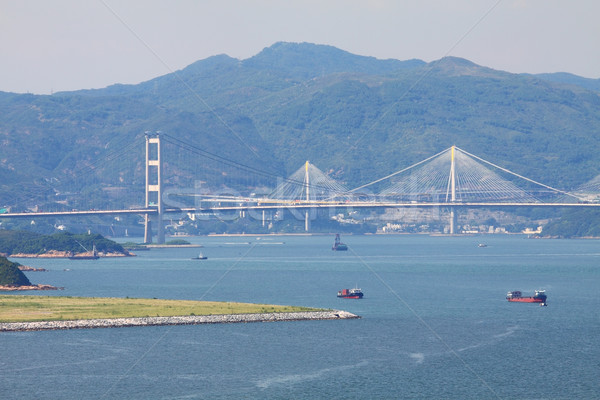 Tsing Ma Bridge at day time Stock photo © kawing921