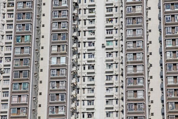 Packed Hong Kong housing apartments Stock photo © kawing921