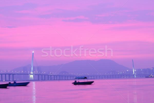 Kong Sham Western Highway in Hong Kong at sunset time Stock photo © kawing921